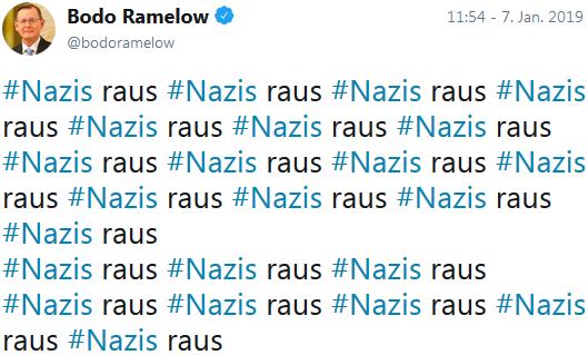 Verfassungsfeind Bodo Ramelow: Nazis raus