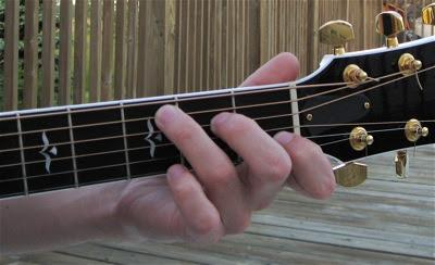 Luyện vị trí đặt ngón tay đúng khi chơi đàn guitar