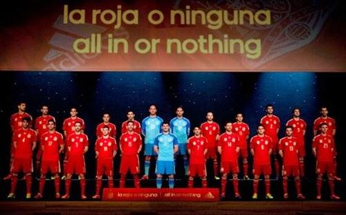 Detail Jersey Terbaru Spanyol Piala Dunia Brazil 2014 ...