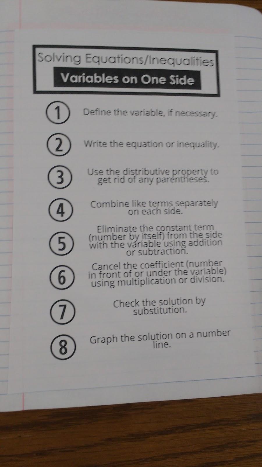 Math = Love: Algebra 1 Solving Equations and Inequalities
