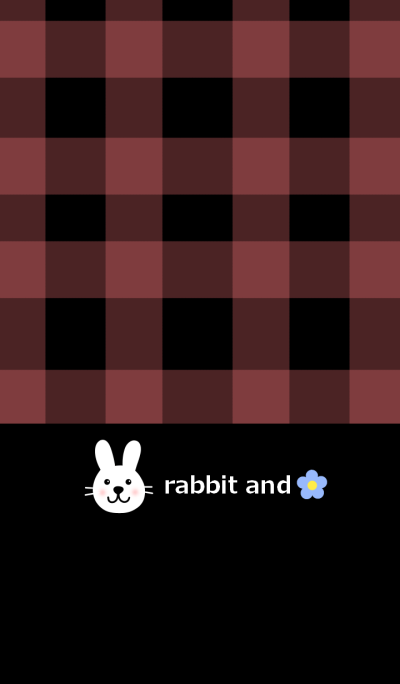 Check pattern and rabbit from japan