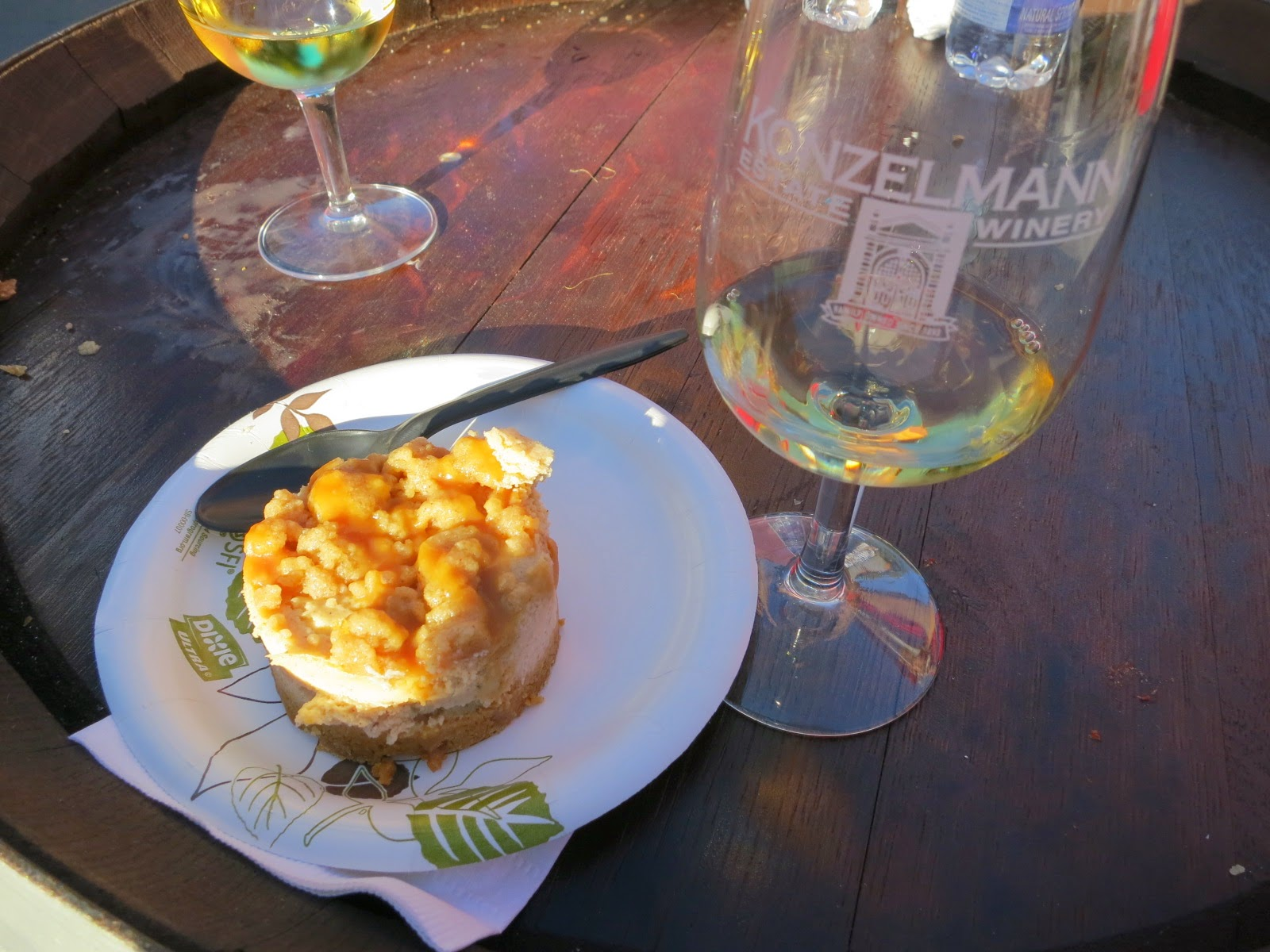 Creamy Apple-Spiced Cheesecake and 2013 Konzelmann Special Select Late Harvest Vidal
