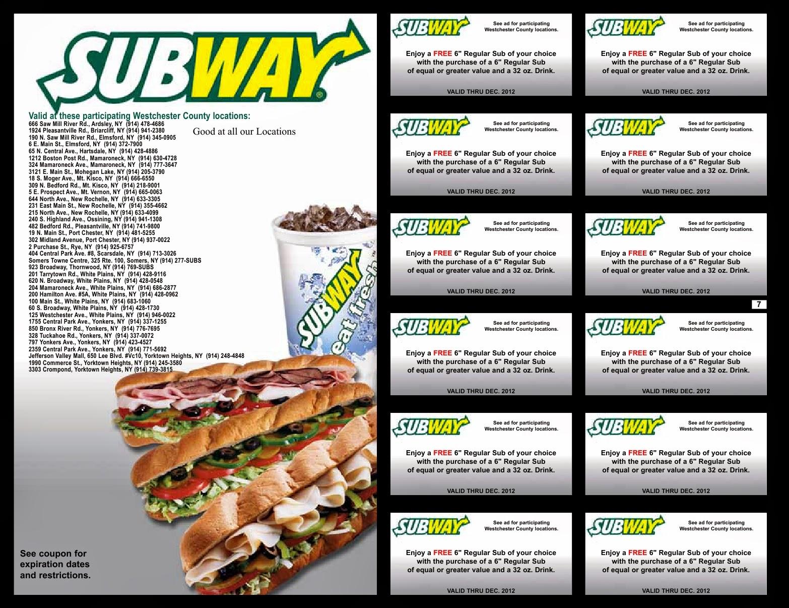 subway coupons canada november