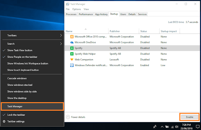 Disable Unnecessary Startup Programs Windows 10