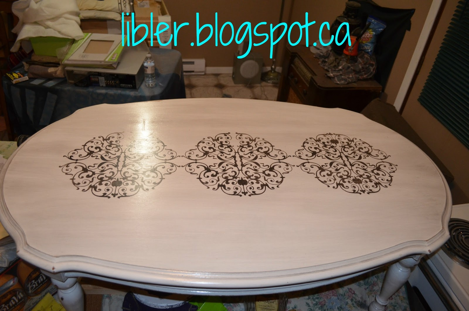 Table Painting Designs Macgirlver Chalk Paint Coffee Table
