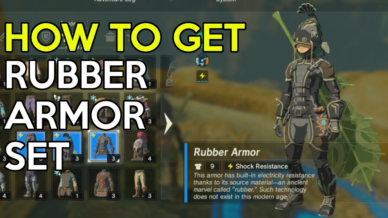 Zelda Breath Of The Wild Where To Find The Rubber Armor Set