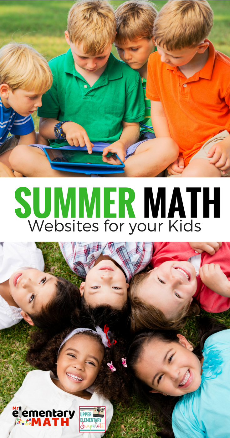 Upper Elementary Snapshots: Summer Math Websites for Your Kids