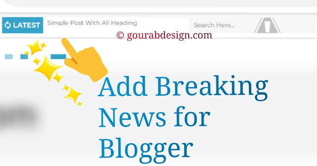 add breaking news widget for blogger