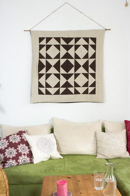Wandteppich geometrische Muster nähen Quilt