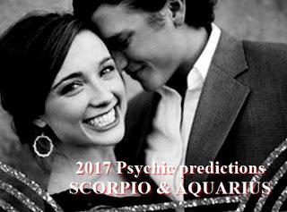 2017 Love Psychic predictions SCORPIO and AQUARIUS