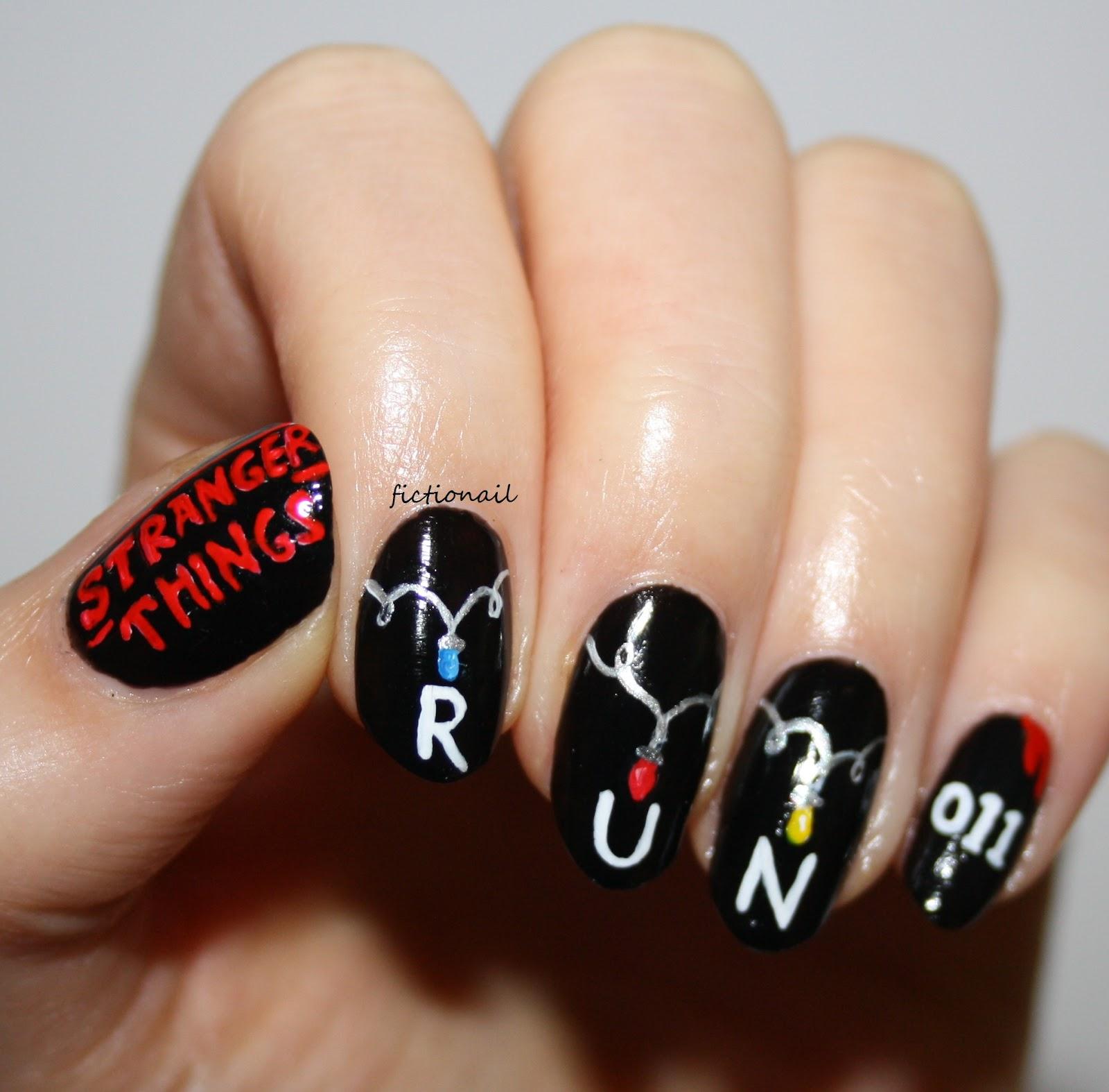 Stranger Things Nails