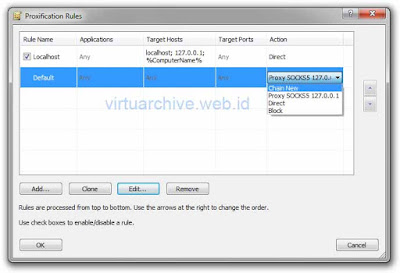 cara setting proxifier, menggunakan, download, untuk internet gratis