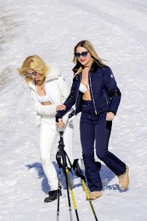 Pixie Lott, White Bikini, Swiss Alps