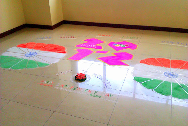Happy Independence Day Rangoli Designs