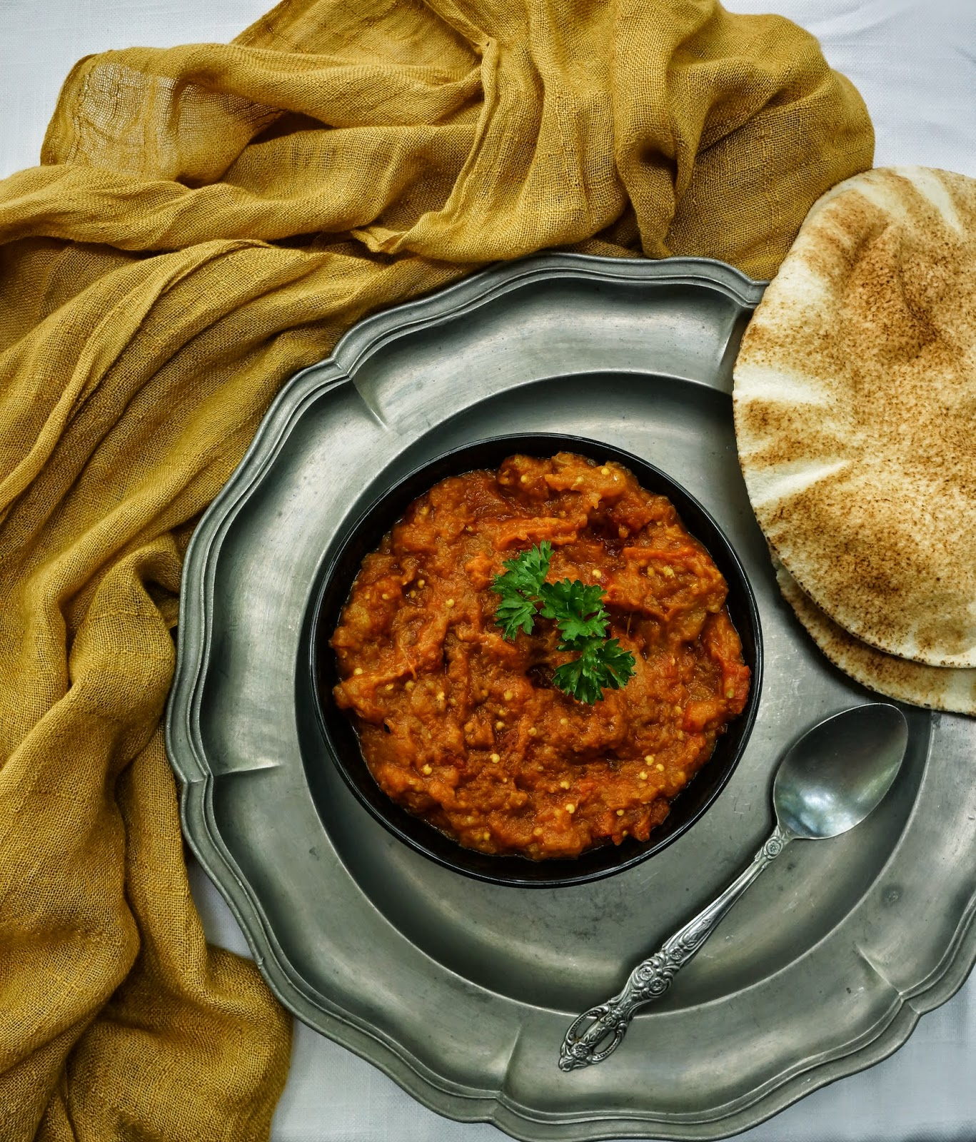 Persian aubergine dip (mirza ghasemi) | Tera Solara