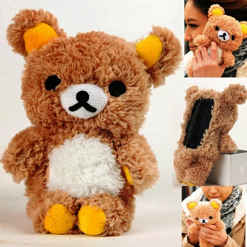 gift idea: plush toy smart phone iPhone case brown bear