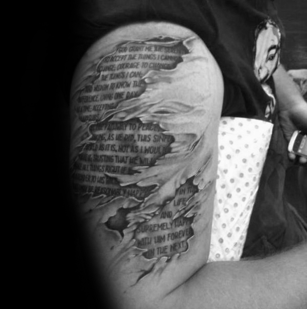 Serenity Quotes Tattoo Design On Upper Arm Be09d353