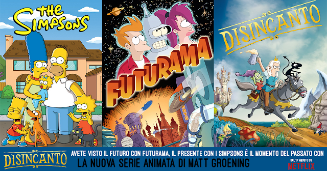 Disincanto - Simpsons - Futurama