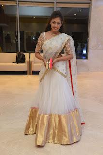 Actress Madhu Shalini Stills in Saree at Delhi Rajeswari Son Wedding Reception  0025.jpg