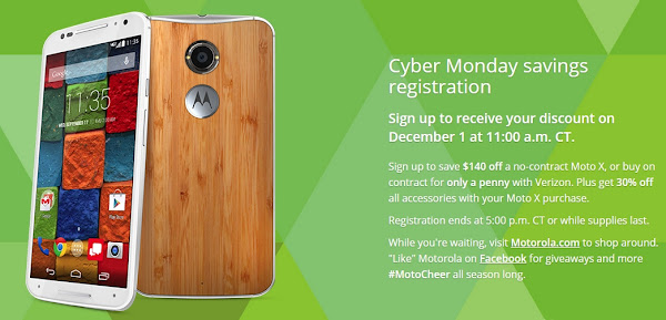 Moto X (2014) Cyber Monday Deals