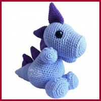 Dragón azul amigurumi