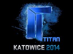 Sticker (naklejka) Titan | Katowice 2014 (Holo)