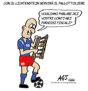 lichtenstein, italia, calcio, sport, paradisi fiscali, umorismo, nazionale, satira, vignetta