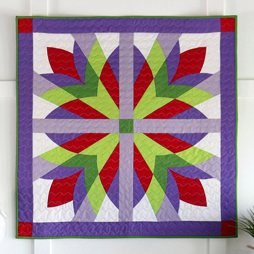 Studio Botanical Burst Wall Hanging Free Quilt Pattern