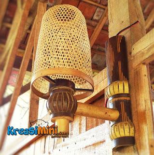 lampu bambu