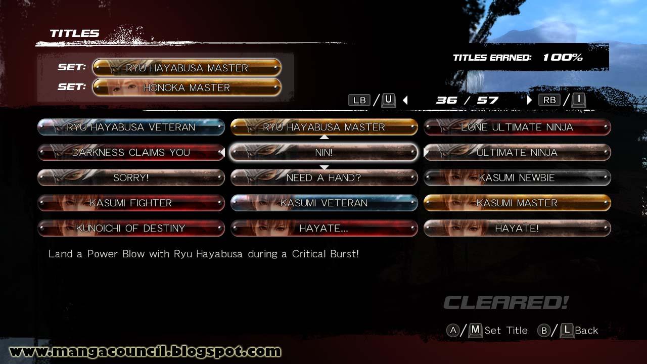 Dead or Alive 5 Last Round Steam Save Game