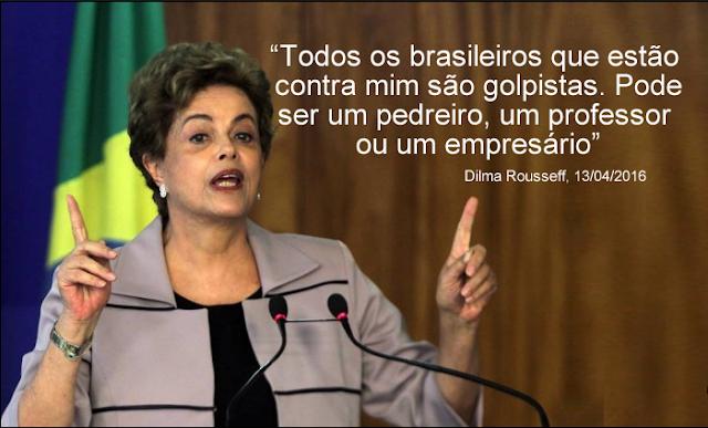 Dilma chama empresários, professores e até pedreiros de golpistas durante entrevista