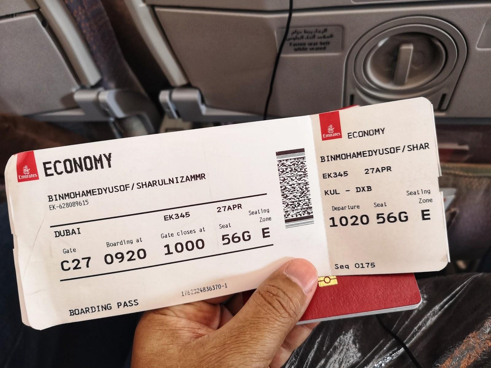 Tiket penerbangan Emirates ke Dubai dari KL