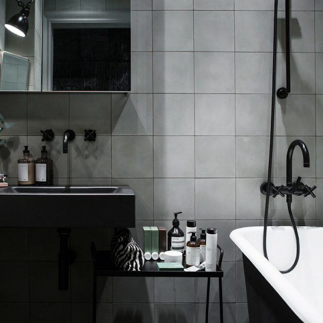 black & grey bathroom • the round button blog