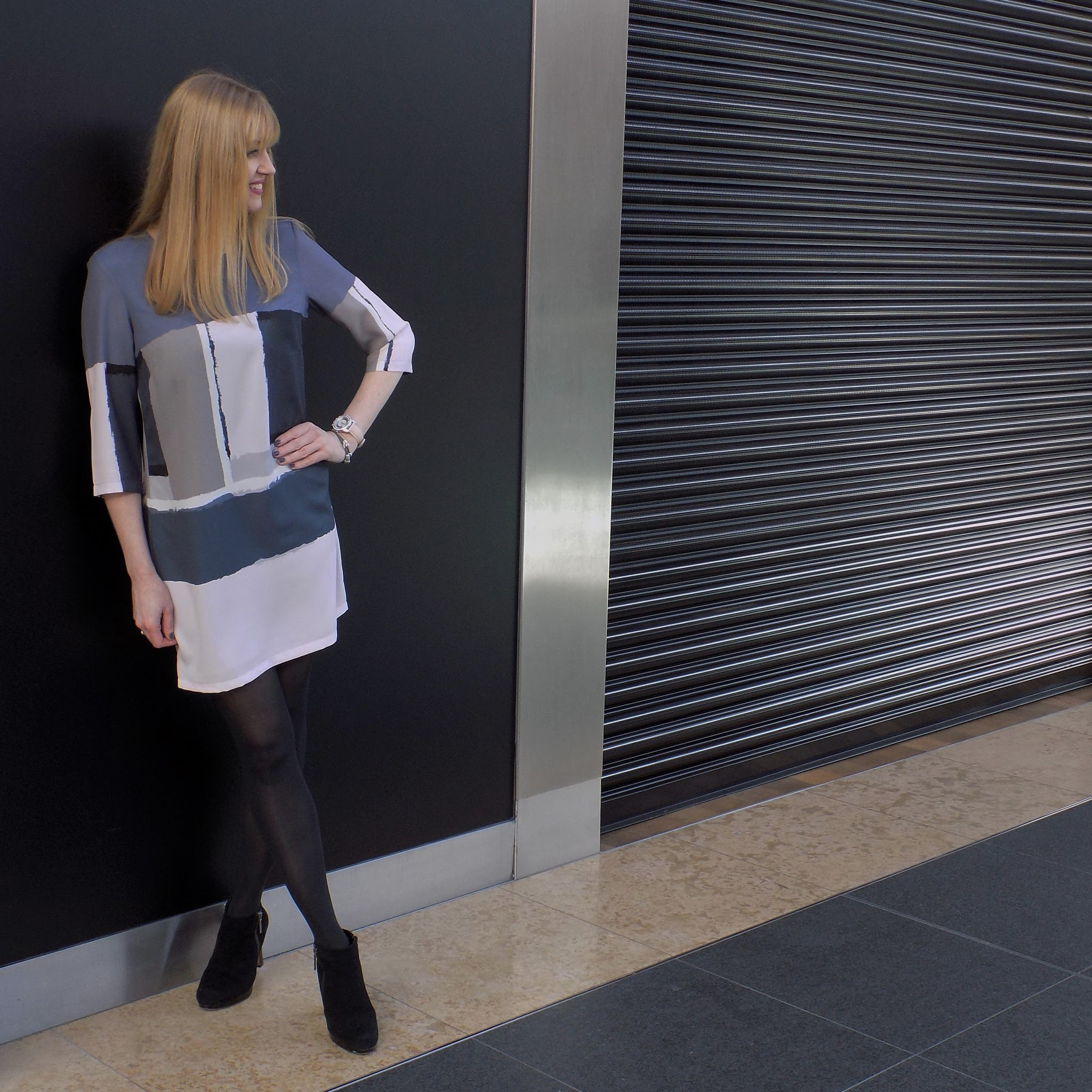 Great Plains colourblock shift dress