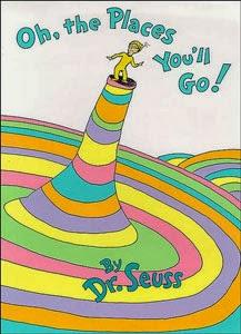Portada americana de ¡Oh, cuán lejos llegarás! del Dr. Seuss