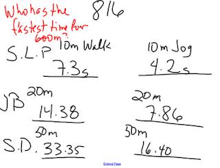 Sargent Park Math Zone: Run or walk
