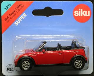 Siku - 1005 Mini Cooper Cabria, 吸塑包裝