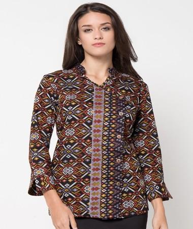 40 Model Baju Batik Atasan 2018 Untuk Wanita Dan Pria