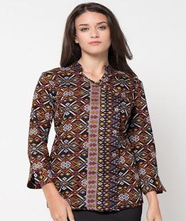 Model Baju Batik Atasan 2018 Untuk Wanita