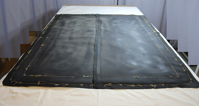 Old flag mount, conservation, pressure mount benefits, textile conservator, flag conservation, preservation, repair