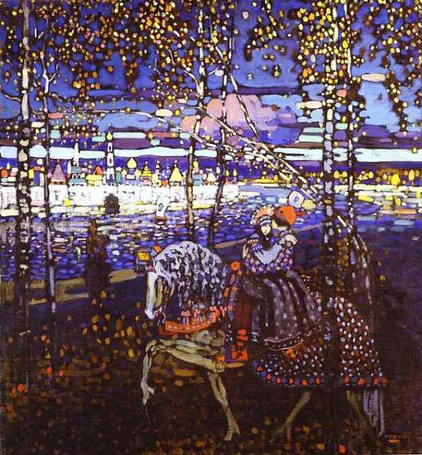 抽象画を生み出した画家、ワシリー・カンディンスキー【a】馬上の2人