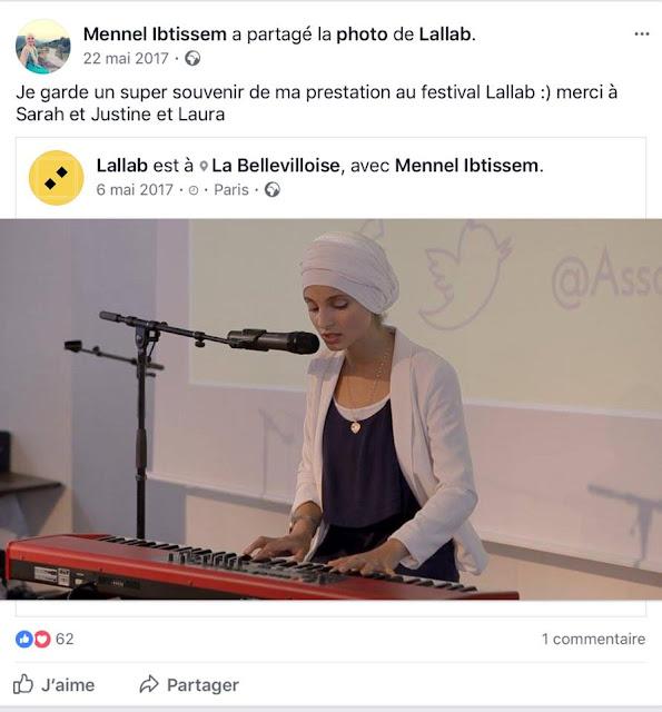 Mennel Ibtissem au service de l'intégrisme religieux de Lallab