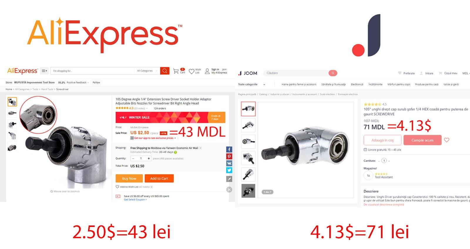 Instrumente de pe Joom sau Aliexpress. Aliexpress vs Joom care-i mai bun. Top magazine online