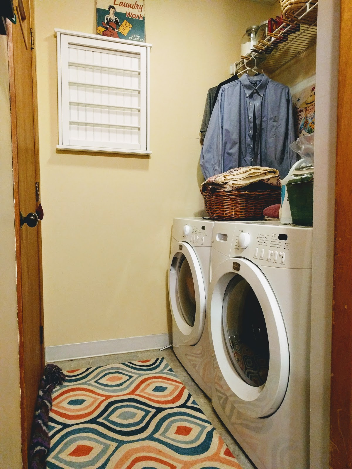 Laundry Room Makeover Progress plus Free Printables | Postcards from ...
