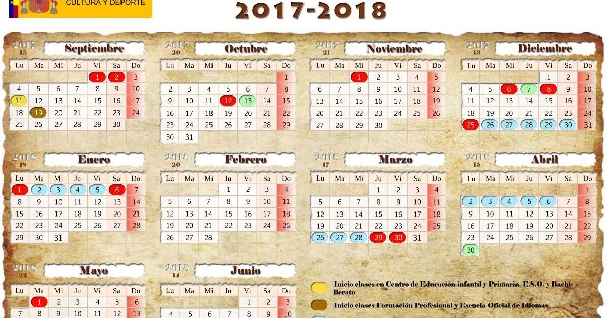 Calendario escolar oficial de ceuta para el curso 2017 18 for Concurso docentes exterior