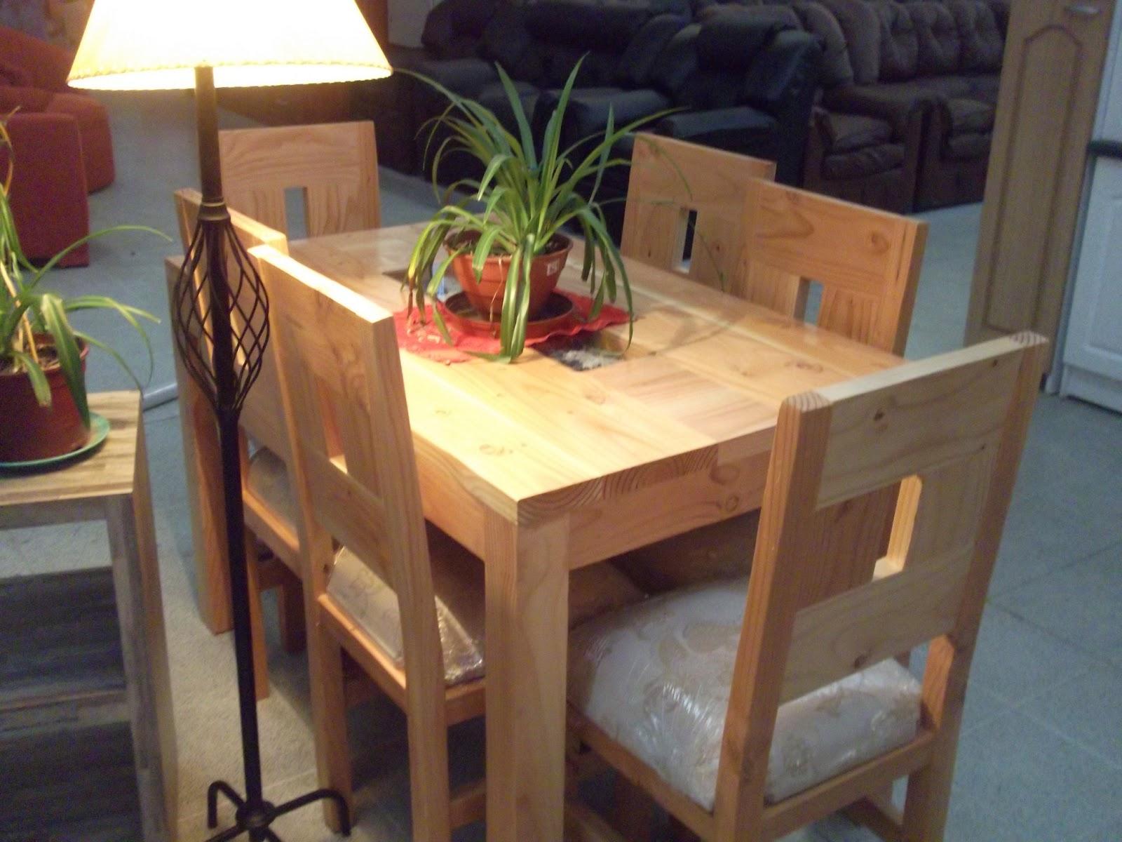 Muebles camila comedor pino oreg n chico cubierta mosaico for Comedores en pino