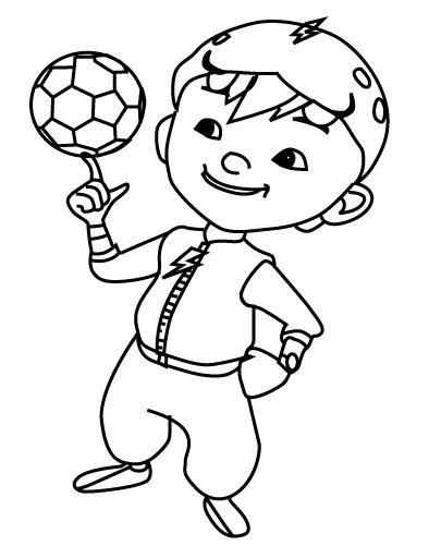 Tranh cho bé tô màu BoBoiBoy 11