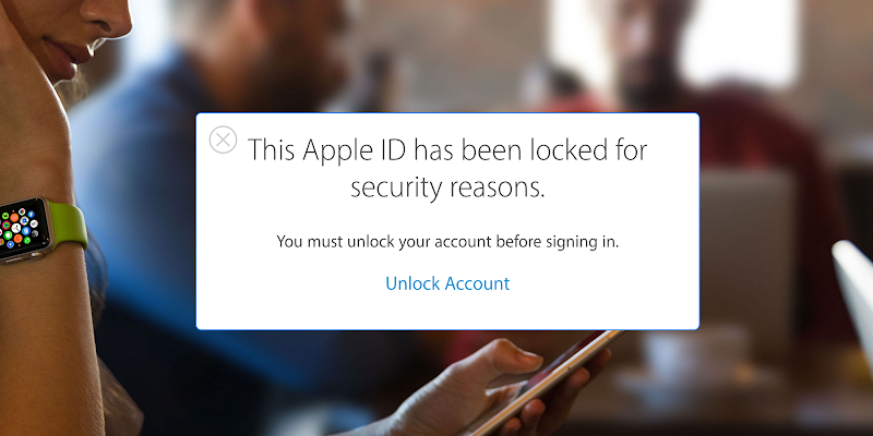 many apple account locked for security reasons the physical keys