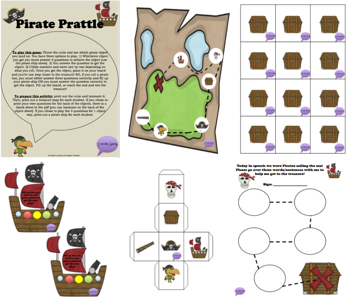 Pirate S Prattle Customizable Articulation Game