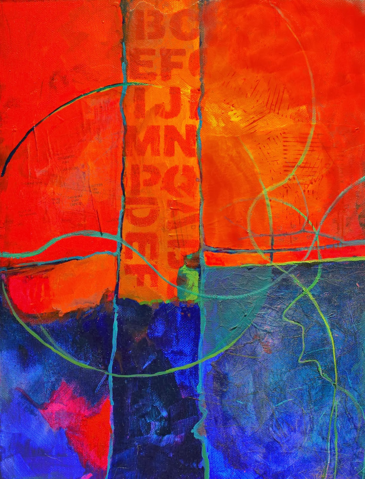 "CAROL NELSON FINE ART BLOG: ""Rumors"" Mixed Media Abstract"